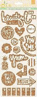 Basic Grey Sun Kissed Cork Stickers