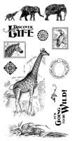 Graphic 45 Safari Adventure Cling Stamp Set 2