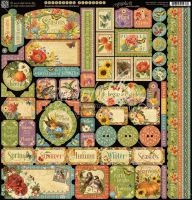 Graphic 45 Seasons Decorative Stickers