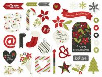 Simple Stories DIY Christmas Chipboard Stickers
