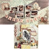 FotoBella Designer Layout Kit Featuring Bo Bunny Bella Rosa