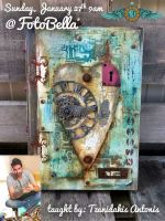 Tzanidakis Antonis Altered Notebook Mixed Media In Person Class 1/27/2019