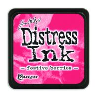 Tim Holtz Distress Mini Ink Pads - Festive Berries by Ranger