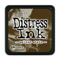 Tim Holtz Distress Mini Ink Pads - Walnut Stain by Ranger