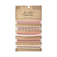 Tim Holtz Idea-Ology Naturals Trimmings -Red/Cream