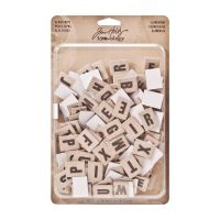 Tim Holtz Idea-ology Alpha Chips, Elementary