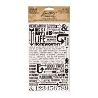 Tim Holtz Idea-ology Remnant Rubs, Life Quotes