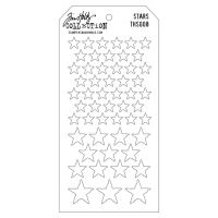 Stamper Anonymous Stars Stencil - Layering Stencil