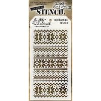 Stamper Anonymous Holiday Knit Stencil - Layering Stencil