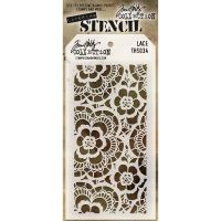Stamper Anonymous Lace Stencil - Layering Stencil