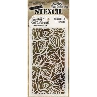 Stamper Anonymous Scribbles Stencil - Layering Stencil