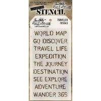 Stamper Anonymous Travelers Stencil - Layering Stencil