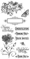 Graphic 45 Time to Flourish Cling Stamp 1