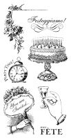 Graphic 45 G45 Cling Stamp Time to Celebrate 2