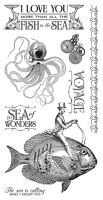 Graphic 45 Voyage Beneath Sea Cling Stamps Set 2