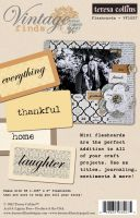 Teresa Collins Vintage Finds Mini Flash Cards 36/Pkg 1.125