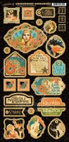 Graphic 45 Vintage Hollywood Decorative Chipboard