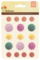 Basic Grey Vivienne Resin Flower Stickers
