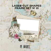 49 and Market Laser Cut Shapes - Frame Set No. 01