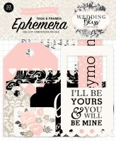 Echo Park Wedding Bliss Frames & Tags Ephemera
