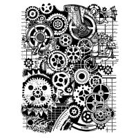 Stamperia Stamp cm 15x20 - Mixed Media gears