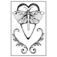 Stamperia High Definition Stamp 7cmx11cm - Alchemy Heart (Cuore libellula)