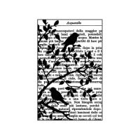 Stamperia High Definition Stamp cm. 7x11 Bird on Text