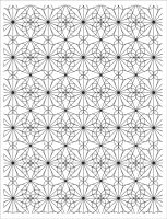 Basic Grey Garden Tile Pattern Cling Stamp - Tea Garden Collection