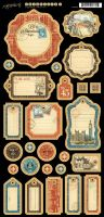 Graphic 45 Cityscapes Journaling Chipboard