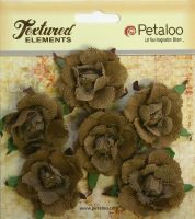 Petaloo Textured Elements Canvas Garden Rosettes - Natural