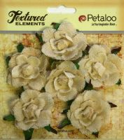 Petaloo Textured Elements Canvas Garden Rosettes - Ivory