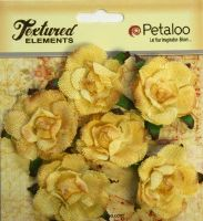 Petaloo Textured Elements Canvas Garden Rosettes - Yellow