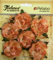 Petaloo Textured Elements Canvas Garden Rosettes - Peach