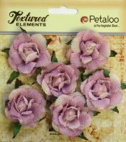 Petaloo Textured Elements Canvas Garden Rosettes - Lavendar