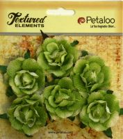 Petaloo Textured Elements Canvas Garden Rosettes - Green