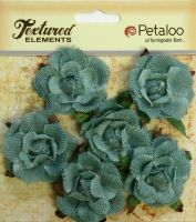 Petaloo Textured Elements Canvas Garden Rosettes - Antique Blue