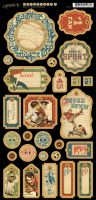 Graphic 45 Good Ol' Sport Chipboard 1