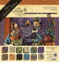Graphic 45 Hallowe'en in Wonderland DCE Pack (Includes Chipboard and Stickers)