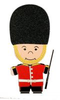 Paper Wizard Small World People - England Guard Die Cut