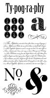 Graphic 45 Cling Stamp Typography 1