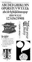 Graphic 45 Cling Stamp Typography 3