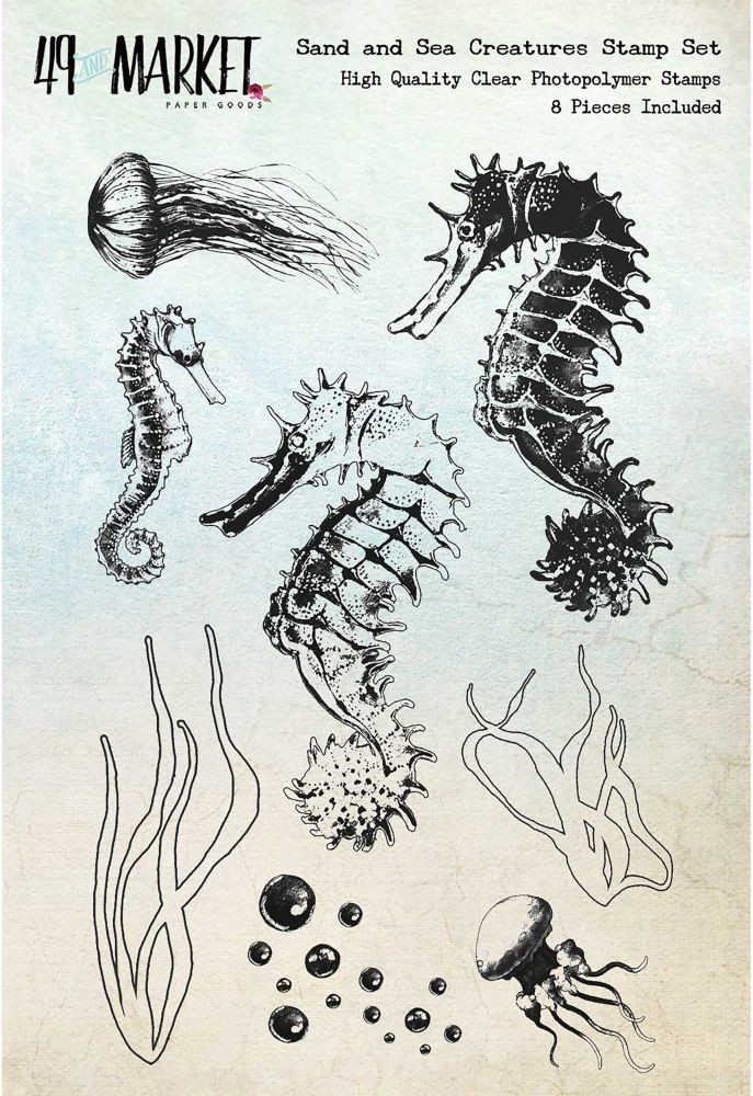 "49 and Market Sand & Sea Creatures - Clear Stamps 4""x6"""