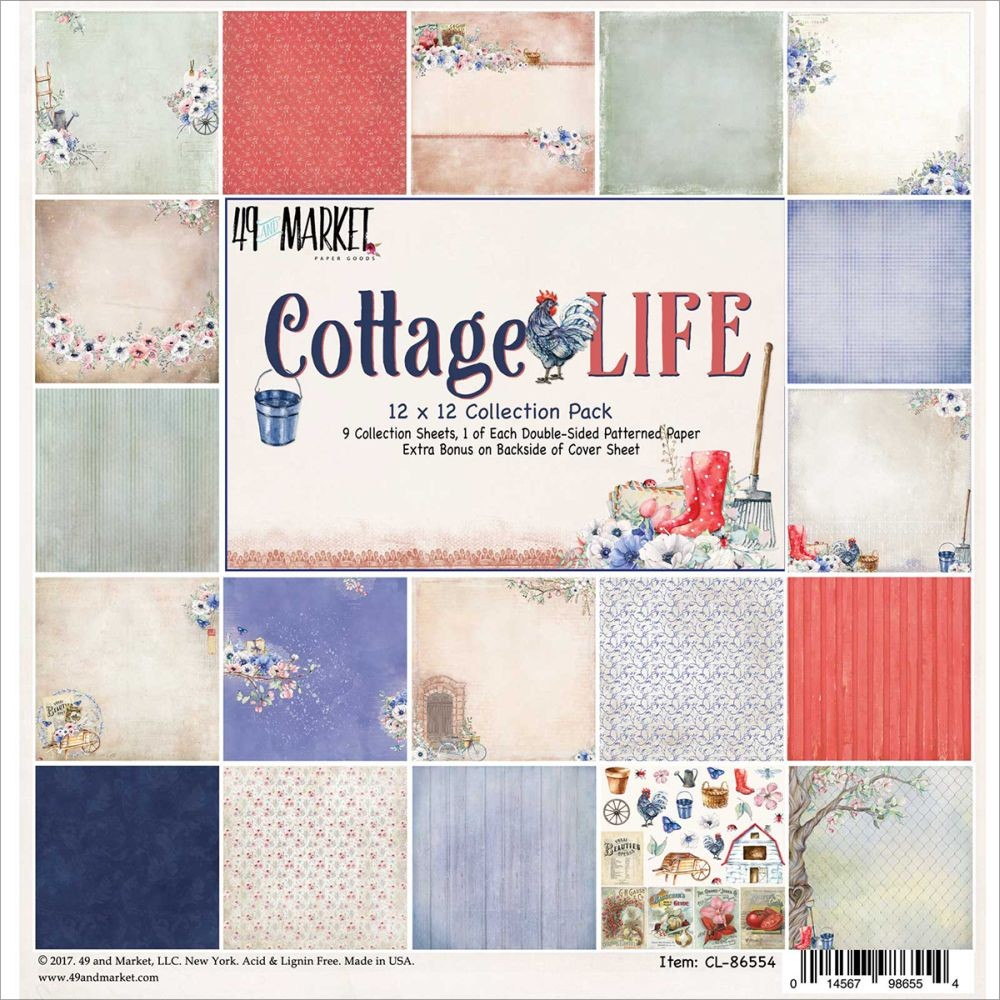 "49 and Market Cottage Life - Collection Pack 12""x12"""