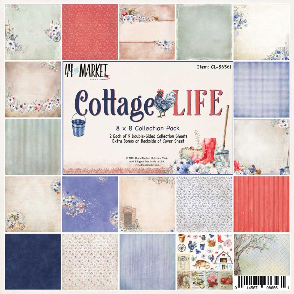 "49 and Market Cottage Life - Collection Pack 8""x8"""