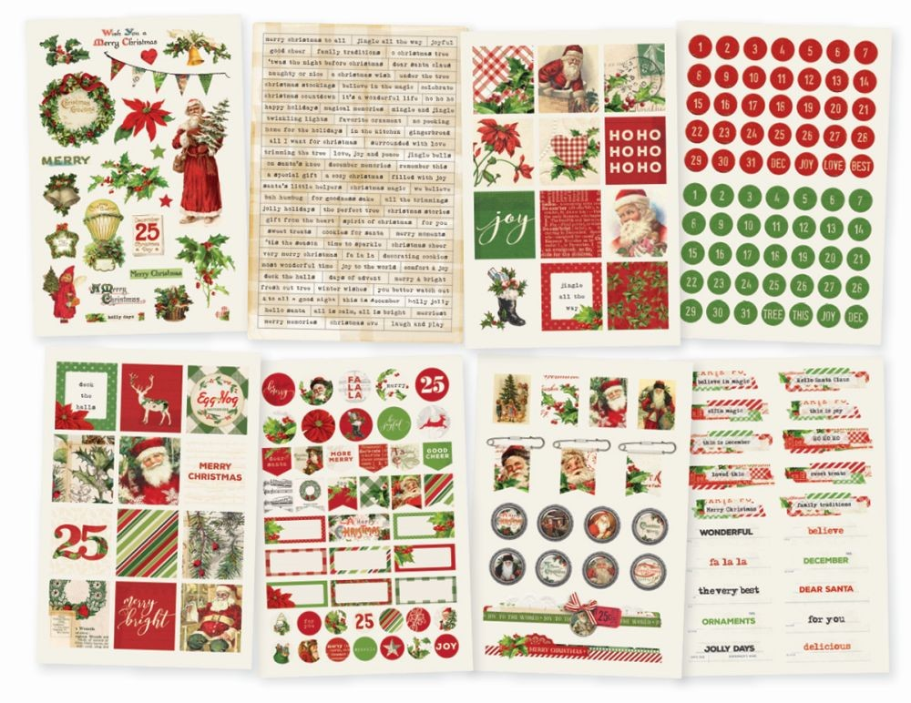 Simple Stories Simple Vintage Christmas 4x6 Stickers