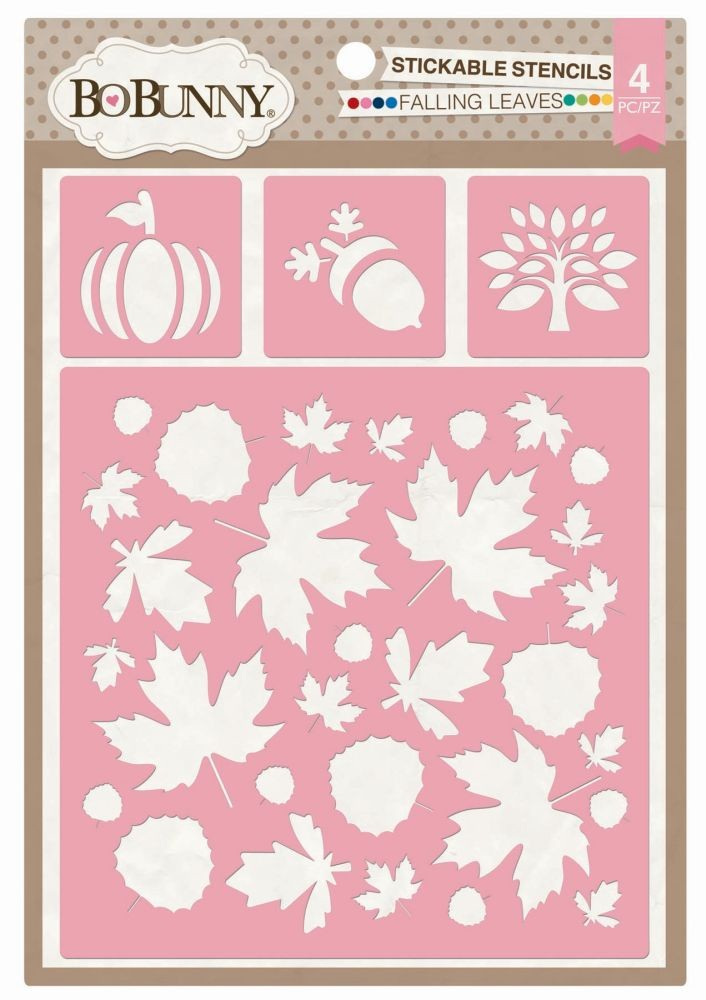 Bo Bunny Falling Leaves Stickable Stencil