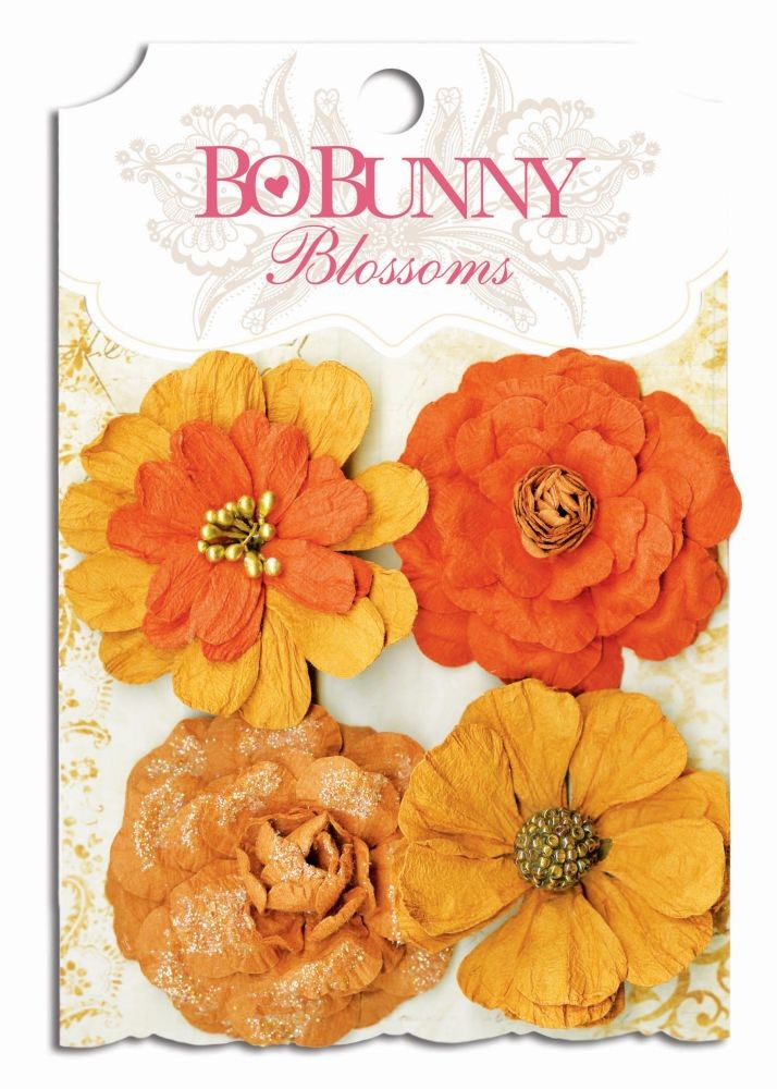 Bo Bunny Harvest Orange Zinnia