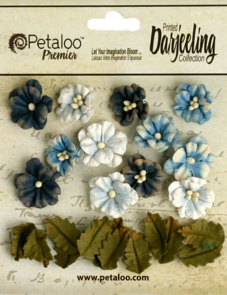 Petaloo Darjeeling Petites x 24 - Teastained Blues