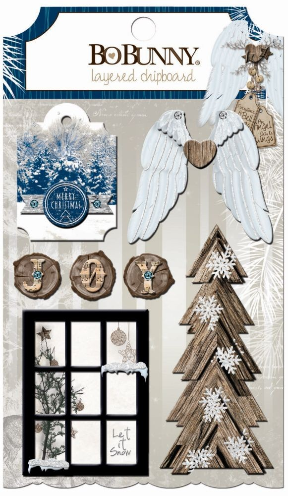 Bo Bunny Sleigh Ride Layered Chipboard