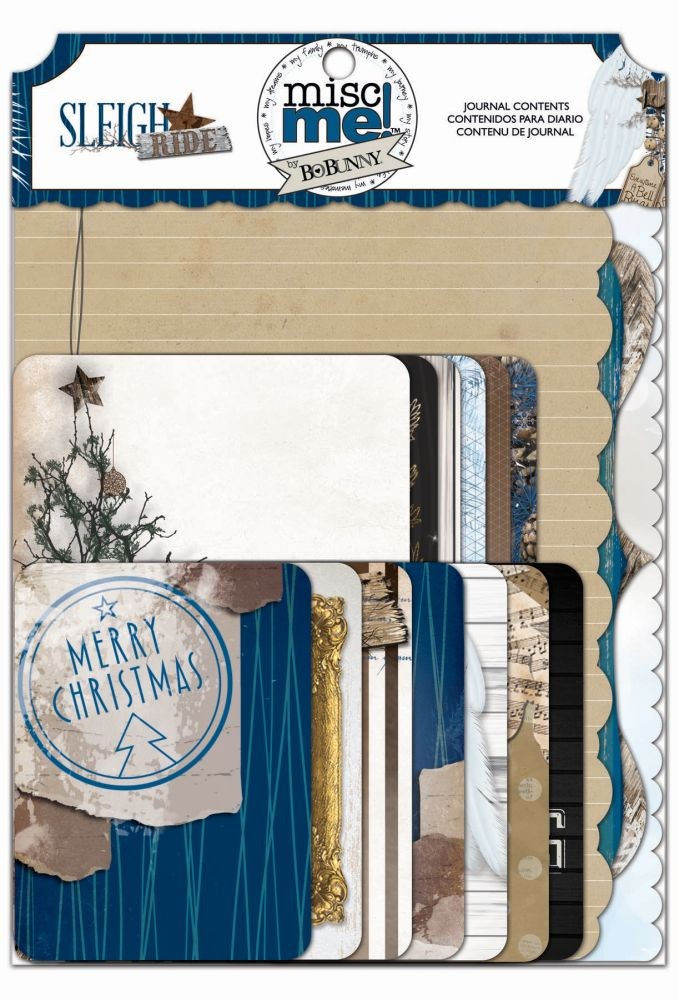 Bo Bunny Sleigh Ride Journal Contents